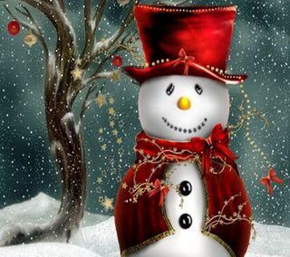 Обои на телефон фестиваль, снеговик, рождество