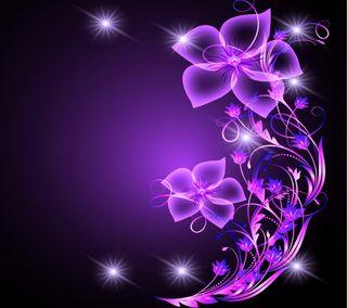 Обои на телефон цветочные, цветы, фон, фиолетовые, сияние, звезды, абстрактные, purple flower, purple floral