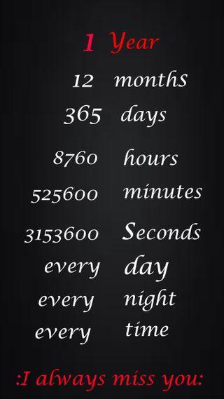 Обои на телефон скучать, год, ты, дни, всегда, missing, 365 days, 12 minths, 1 year