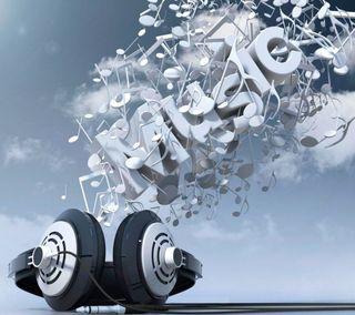 Обои на телефон отлично, небо, наушники, музыка