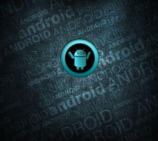 Обои на телефон цвет морской волны, стена, ряд, лучшие, крутые, андроид, android wall series, android, 3д, 3d