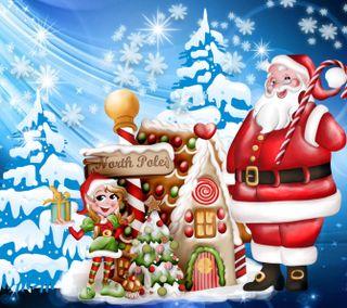 Обои на телефон счастливое, рождество, мультики, зима, 1440x1280px