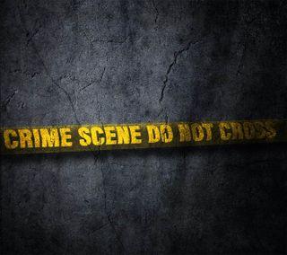 Обои на телефон полиция, темные, сцена, не, крест, знаки, желтые, dont cross