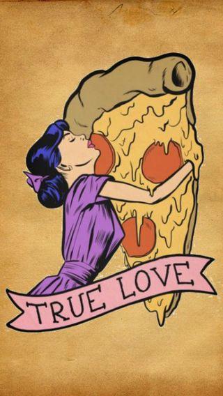 Обои на телефон пицца, ретро, правда, любовь, девушки