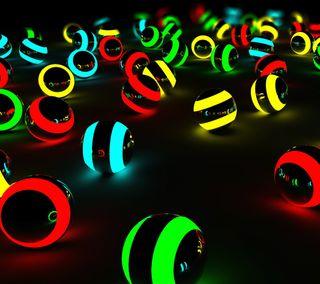 Обои на телефон цветные, сфера, круги, абстрактные, 3д, 3d