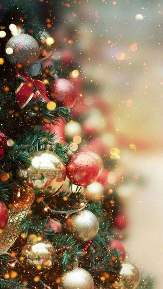 Обои на телефон украшение, снег, рождество, безделушки