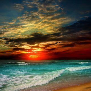 Обои на телефон природа, прекрасные, море, красочные, закат, вода