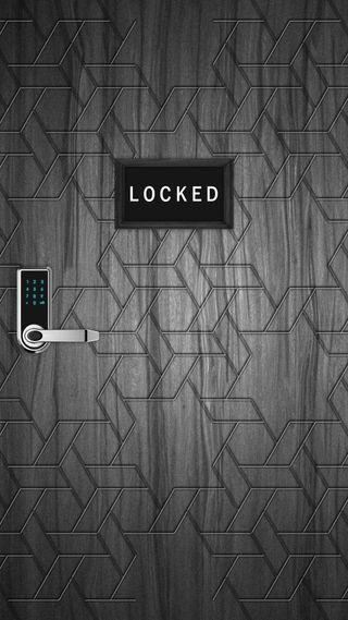 Обои на телефон черные, заблокировано, дерево, дверь, блокировка, белые, 2017
