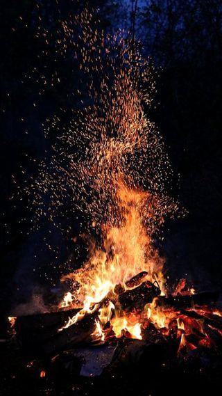 Обои на телефон холод, релаксация, природа, огонь, зима, дерево