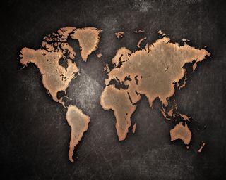 Обои на телефон карта, мир, земля, scratches, continents