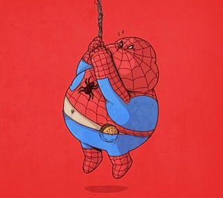Обои на телефон супергерои, человек паук, иллюстрации, дизайн, spiderman fat