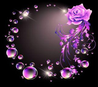 Обои на телефон пузыри, цветы, векторные, абстрактные, vector flower, abstract flower