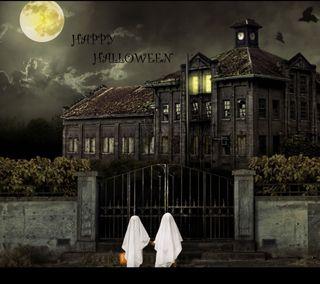 Обои на телефон ужасные, хэллоуин, счастливые, призрак, дом, haunted house, ghost