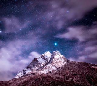 Обои на телефон х6, нокиа, природа, ночь, небо, звезды, горы, nokia x6, nokia 8 sirocco, nokia 7 plus