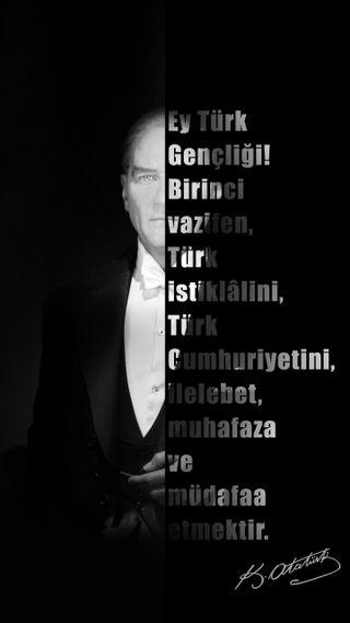 Обои на телефон ататюрк, экран блокировки, черные, турецкие, босс, белые, kilit ekrani, ataturk wallpaper