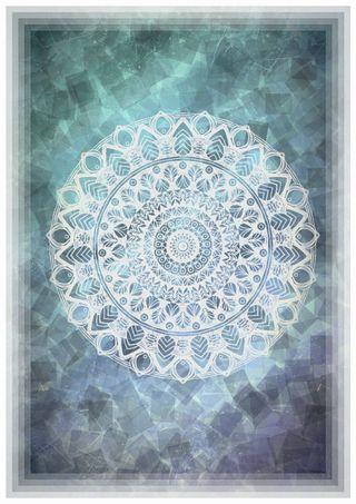Обои на телефон пастельные, шаблон, цветы, фиолетовые, синие, мандала, граница, белые