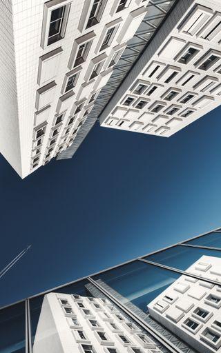 Обои на телефон небо, здания, дерево, архитектура, up, luca bravo