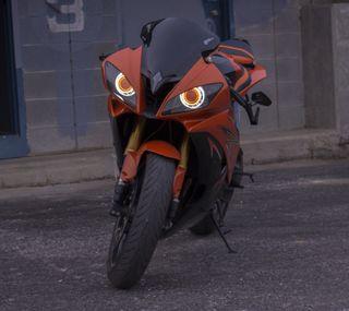 Обои на телефон ямаха, черные, оранжевые, мотоциклы, крутые, классные, байк, yamaha, r6
