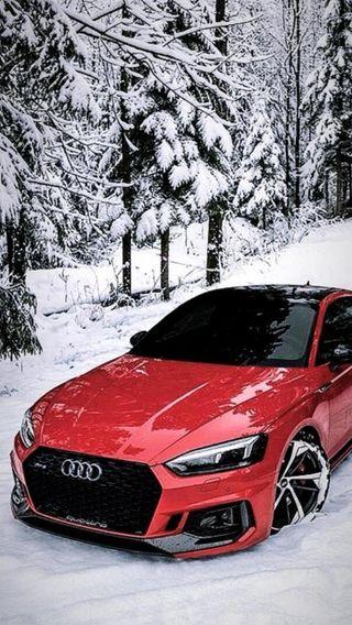 Обои на телефон новый, машины, красые, зима, ауди, audi rs5, audi