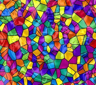 Обои на телефон окрашенный, мозаика, стекло, радуга, красочные