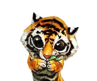 Обои на телефон тигр, милые, dsd, cute tiger