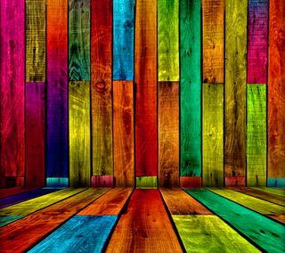 Обои на телефон цветные, дерево, фон, красочные, абстрактные, wood boards, colored boards