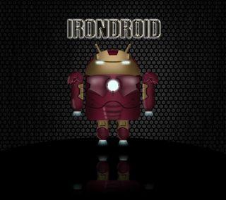 Обои на телефон робот, железный человек, железный, дроид, андроид, iron droid, android