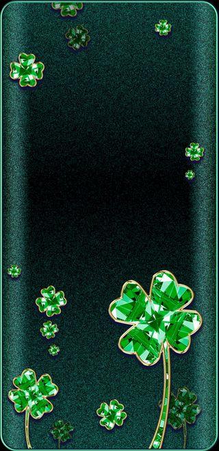 Обои на телефон сверкающие, клевер, зеленые, драгоценность, блестящие
