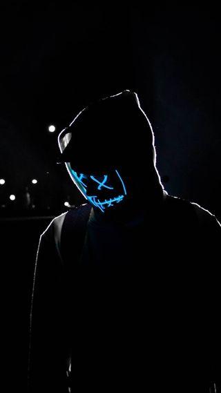Обои на телефон хакер, черные, токио, стиль, рыцарь, неоновые, маска, взлом, вендетта, rob