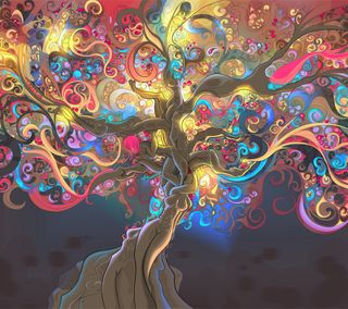 Обои на телефон цифровое, цветные, крутые, арт, darkdroid, art