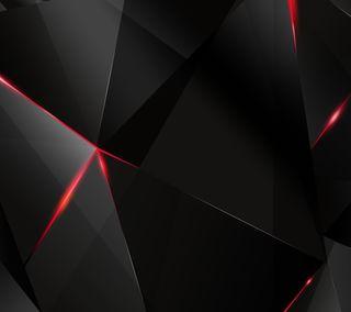 Обои на телефон треугольник, черные, формы, красые, абстрактные, 3д, 3d
