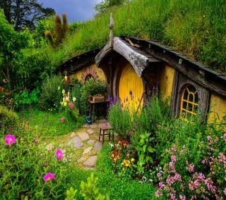 Обои на телефон страна, природа, зеленые, дом
