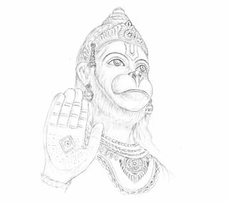 Обои на телефон хануман, религия, индия, индийские, духовные, господин, боги, арт, hanuman art