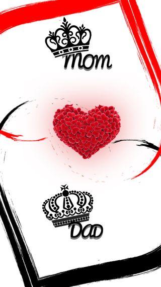 Обои на телефон сердце, отец, мама, любовь, крутые, король, королева, бог, maa, love, hd