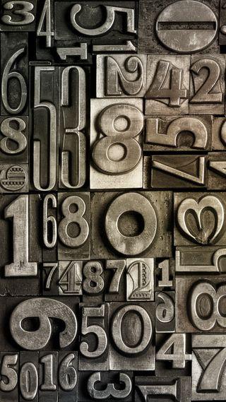 Обои на телефон абстрактные, металл, мотивация, стальные, металлические, числа