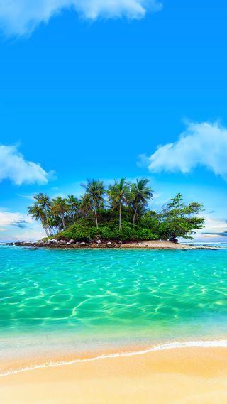 Обои на телефон остров, marshall island, likiep