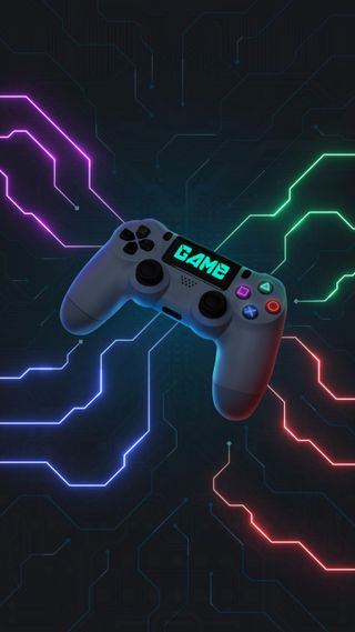 Обои на телефон технология, игровые, технологии, светящиеся, приставка, неоновые, игра, джойстик, геймер, glow neon, game tech, Playstation, Neon, Game Tech