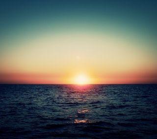 Обои на телефон солнце, пейзаж, небо, восход