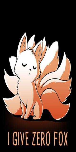 Обои на телефон лиса, забавные, zero fox