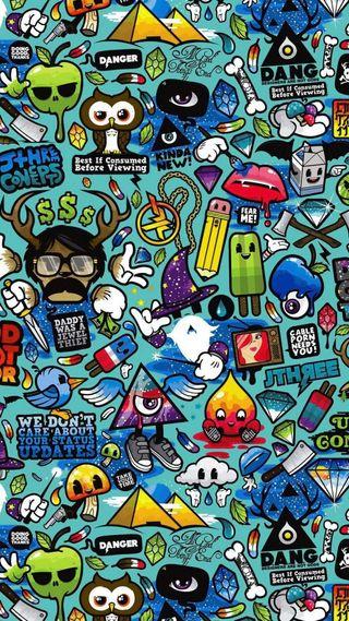 Обои на телефон наклейки, логотипы, бренды, арт, sticker brand, hd, art