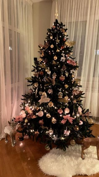 Обои на телефон настроение, утро, страна, санта, рождество, огни, деревья, дерево, 4k christmas tree