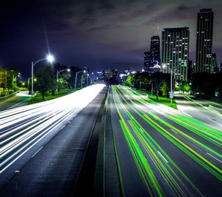 Обои на телефон хайвей, будущее, огни, город, future highway
