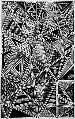 Обои на телефон треугольники, черные, рисунок, белые, арт, абстрактные, art