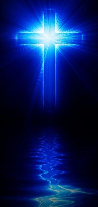 Обои на телефон христианские, темы, красота, темные, синие, ночь, луна, крест, исус, бог