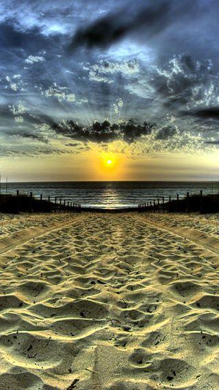 Обои на телефон солнце, пляж, море