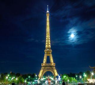 Обои на телефон эйфелева башня, париж, ночь, eiffeltower by night