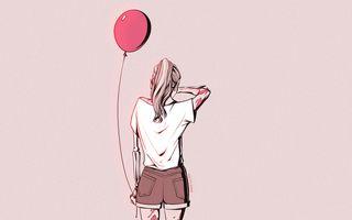Обои на телефон шары, рисунки, принцесса, поэма, мой, девушки, грустные, crying girl balloon, cry