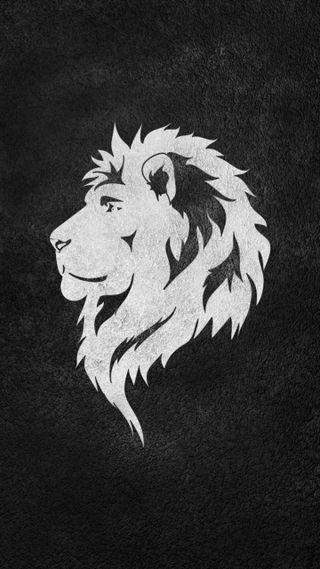 Обои на телефон черные, лев, sophistication, royal