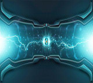 Обои на телефон электрические, синие, молния, абстрактные