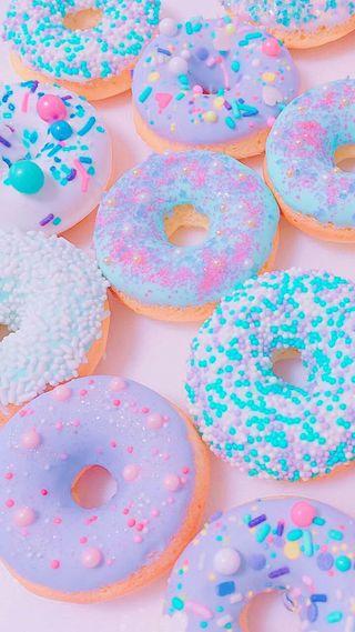 Обои на телефон сахар, еда, розовые, пастельные, единорог, donuts